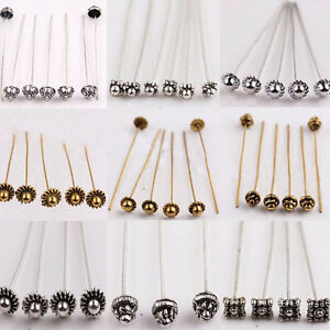 20-100pcs-Silver-Golden-Plated-Metal-Head-Crown-Ball-Pins-Jewelry-Findings-50mm