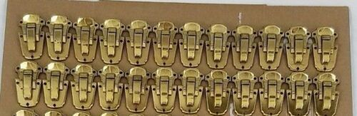 Lot of 24 NOS Brass Plated Guitar Case Drawbolt Latch USA Vtg Eagle Lock Co