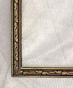 Art-Deco-VTG-Carved-Wood-Picture-Frame-Gold-Black-Fits-12-X-9