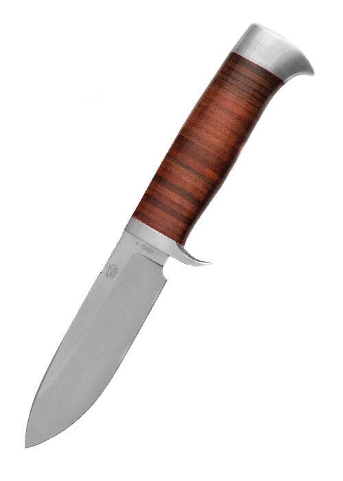 Hanwei Nyala Messer mit Drop-Point-Klinge & Lederlamellengriff 22,9cm Jagdmesser
