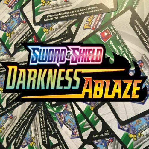 50x Darkness Ablaze Booster Packs Pokemon TCG Online PTCGO, In game