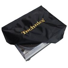 DMC Turntable Cover Technics Logo Deck Logo Black & Embroidered Gold Dust Cover