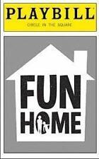 New Playbill Fun Home  Michael Cerveris Judy Kuhn  Beth Malone Sydney Lucas 2015