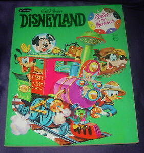 WALT DISNEY\'S DISNEYLAND COLOR BY NUMBER COLORING BOOK WHITMAN 1407 ...