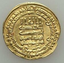 AH 320-322/AD 932-934 ABBASID. AL-QAHIR GOLD DINAR SUQ AL-AHWAZ MINT, 4.22 GRAM,