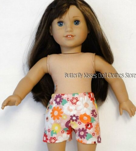 Pink Flower /& Bugs Shorts 18 in Doll Clothes Fits American Girl
