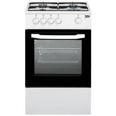 BEKO Cucina a Gas CSG42001FW 4 Fuochi a Gas Forno Gas Dimensioni 50 x 50 cm Colo
