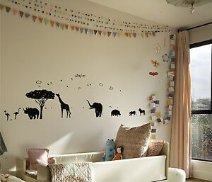 African safari mural vinyl wall decal ebay for African sunset wall mural