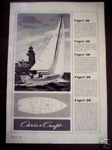 1964-vintage-boating-Ad-Chris-Craft-CAPRI-30-039-Sailboat-vintage-Boat