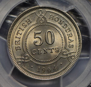 British-Honduras-1964-50-Cents-PCGS-MS64-KM-28-PC0649-combine-shipping