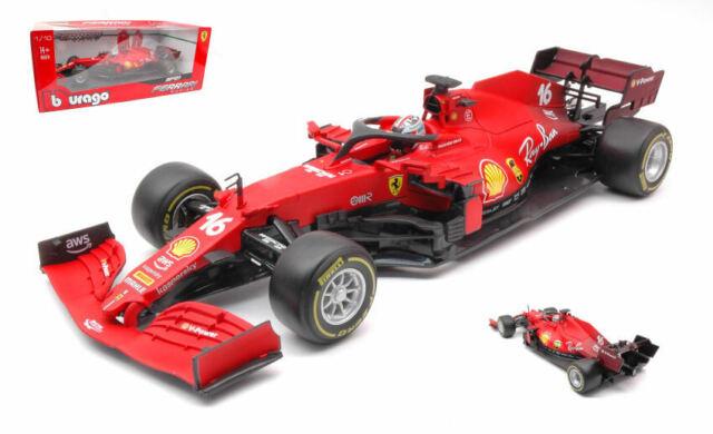 Ferrari f1 sf21 n.16 2021 charles leclerc 1:18 modellino burago scala