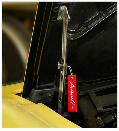 AVANTI 1962-1990 Hood Support Latch Pin with AVANTI Embroidered Pendant