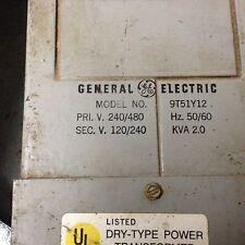 Electric Power Transformer 20 Kva 5560hz 120x240 120240 General Elec 9t51y12