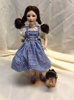 Franklin Mint Heirloom-Wizard Of Oz-Dorothy/Toto-Judy Garland Porcelain Doll