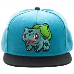 7c4d429611a Bioworld Pokemon Bulbasaur Embroidered Snapback Cap Hat Blue for ...