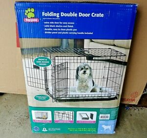 Top-Paw-24-Double-Door-Folding-Crate-For-Dogs-12-25-Pounds