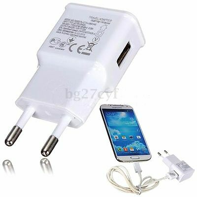 2A USB Wall Charger Universal Home Travel Power Adapter Fast Charging EU Plug