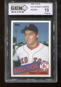 Roger-Clemens-RC-1985-Topps-181-Red-Sox-Rookie-GEM-Elite-10-Pristine