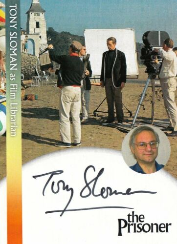 2018 - PW1 TONY SLOMAN AUTOGRAPH CARD THE PRISONER FILM LIBRARIAN