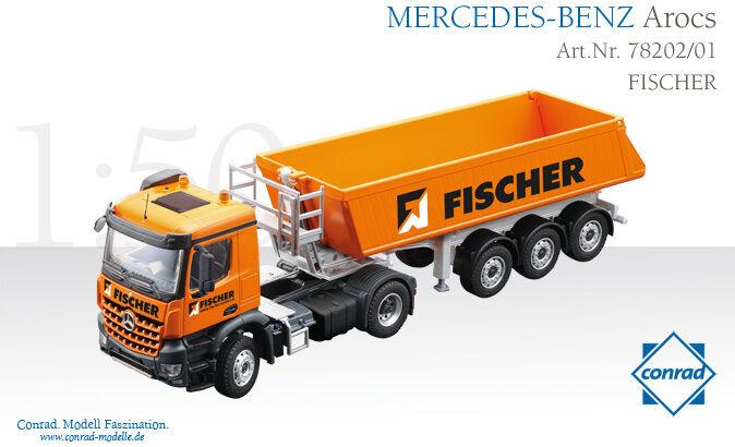 Mercedes Benz Arocs Avec  SCHMITZ voitureGOBULL Trailer-Conrad  78202 01 1 50 En parfait état, dans sa boîte.  sélectionnez parmi les dernières marques comme