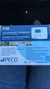 Details about PECO Fan Coil Thermostat,Digital,Programmable, TA180-001,  White