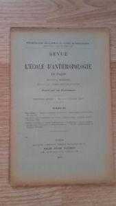 Compendio Mensile - Rivista Di SCUOLA Antropologia Di Parigi - 1899 - N°7