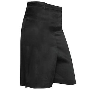 ANN DEMEULEMEESTER $600 drop crotch shorts buckle back sateen skort 38-FR NEW