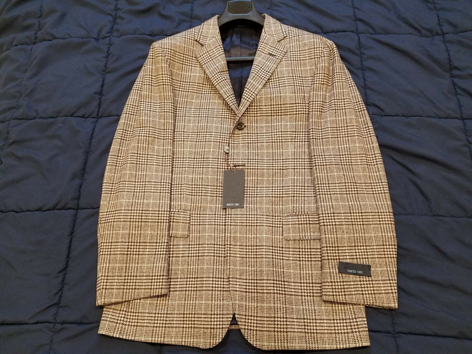New with Tags DAVID CHU SPORT COAT Wool 3/2 Button