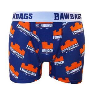 Bawbags NEW Men/'s Edinburgh Rugby Boxer Shorts Blue BNWT