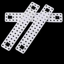 2pcs White Plastic Connect Strip 20cm Frame DIY Robotic Car Model Toy Shaft