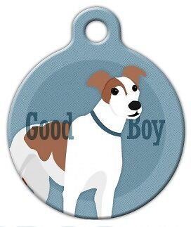 Custom Personalized Pet ID Tag for Dog and Cat Collars GOOD BOY GREYHOUND