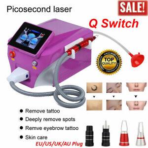 Q Switch ND YAG Laser System Tattoo Eyebrow Pigment Remover Skin Whiten Machine