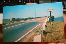 old NJ New Jersey Shore postcard Thomas Mathis bridge Toms River Seaside Heights