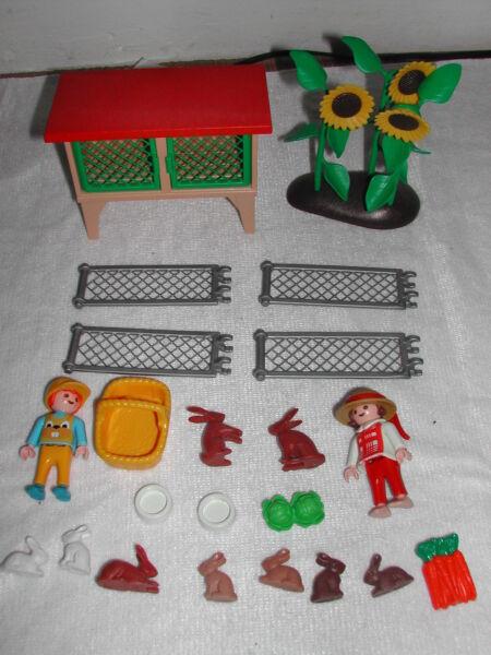 Brillant Playmobil // Enfants Clapiers Ferme // Ref 3075 Calcul Minutieux Et BudgéTisation Stricte