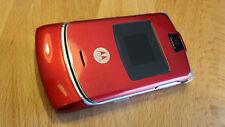 Pieghevole Per Cellulare Motorola RAZR v3 in rosso/brandingfrei/simlockfrei