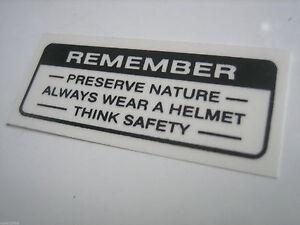 HONDA-CB100-C102-C70-CL90-XL125-H100-Sticker-Decal-REMEMBER-Mark-Drive-Caution