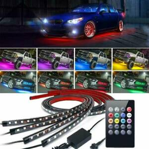 4X-Under-Car-Tube-Neon-Strip-Light-Kit-90-120cm-LED-Underglow-Underbody-12V