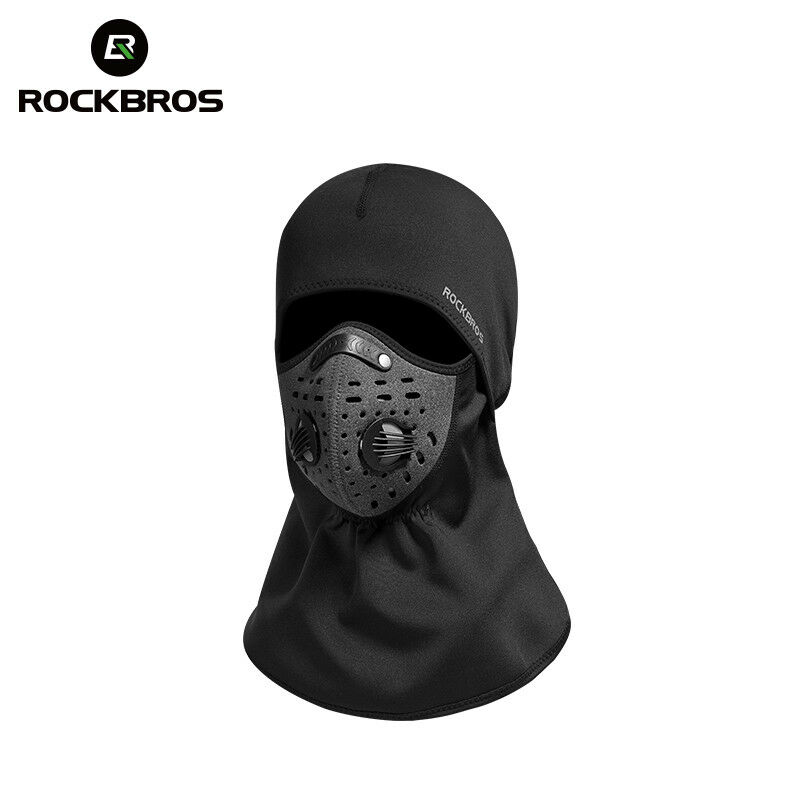 ROCKBROS Winter Cycling One Thermal Face Mask Outdoor Sporting Cap One Cycling Size Black 694cef
