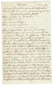 Julius Christian Koch (1792-1860) Brief 1842 Dresden Schauspieler Autograph