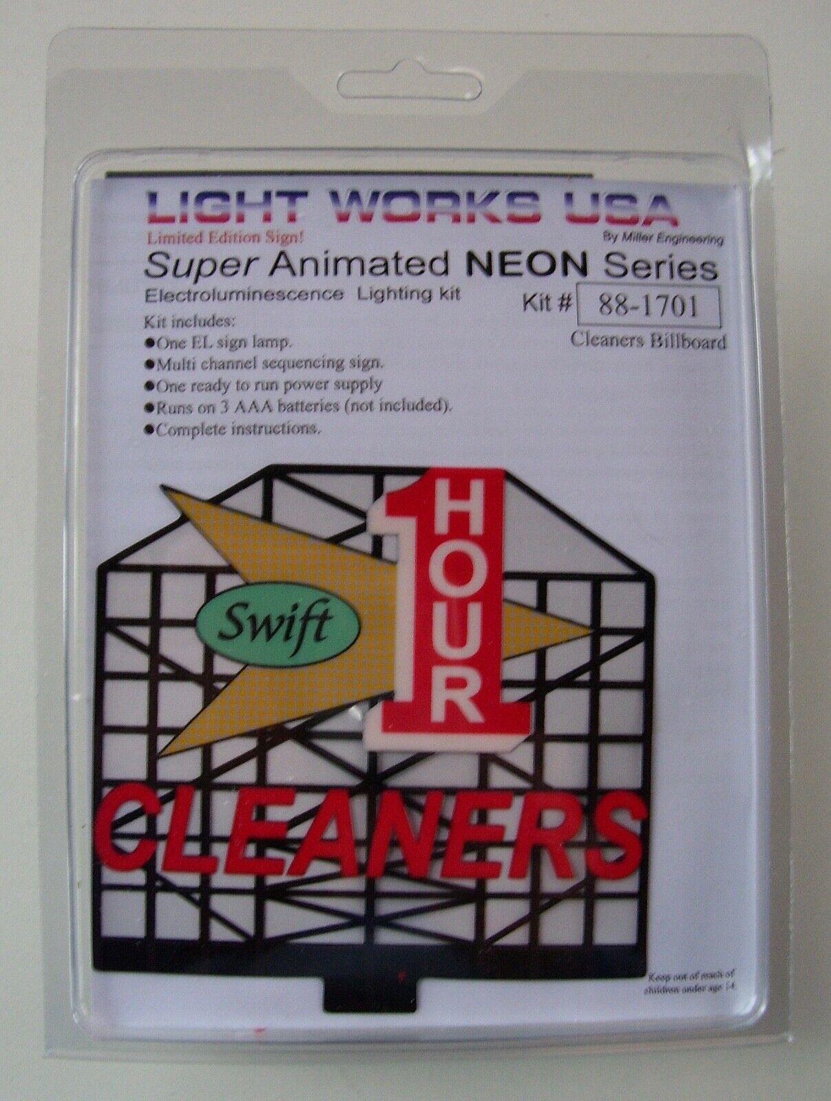 Light Works USA by Miller Engineering 88-1701 1 Hour Cleaners Billboard NIB