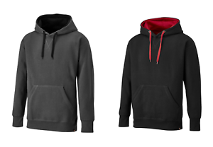 Dickies-Two-Tone-Hooded-Pullover-Black-Red-or-Grey-SH3007