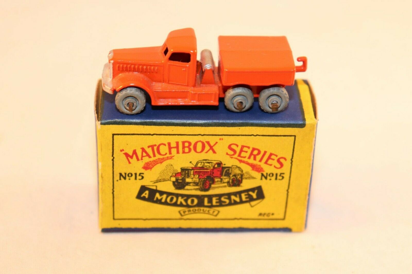 Matchbox Lesney No 15 Prime Mover mint in box all original condition GMW