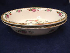 """F Winkle Whieldon Ware PHEASANT Smooth 2-10 1/4"""" Oval Vegetable Bowls England"""