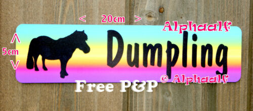 Sign Stable Door Shetland Pony Personalised Multi Colour Aluminium not decal