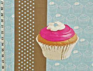 Image Is Loading Cupcake Fabric Retro Pink Cup Cake Interior Home