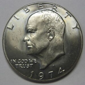 Beautiful 1977-S Proof Clad Eisenhower Ike Dollar Flashy Gem   DUTCH