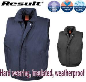 Mens-BODYWARMER-Gilet-Hard-Wearing-PADDED-Filed-Lined-WARM-Waterproof-S-to-2XL