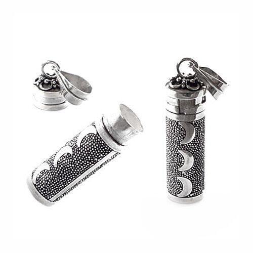 925 Bali Sterling Silver Prayer Box Cresccent moon design Pendant (PT33008)