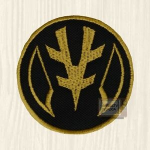 Power Rangers White Coin Patch Tv Series Mighty Morphin Tiger Tommy
