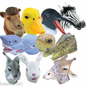 Full-Overhead-Adult-Latex-Rubber-Wildlife-Zoo-Animal-Fancy-Dress-Costume-Mask-BN